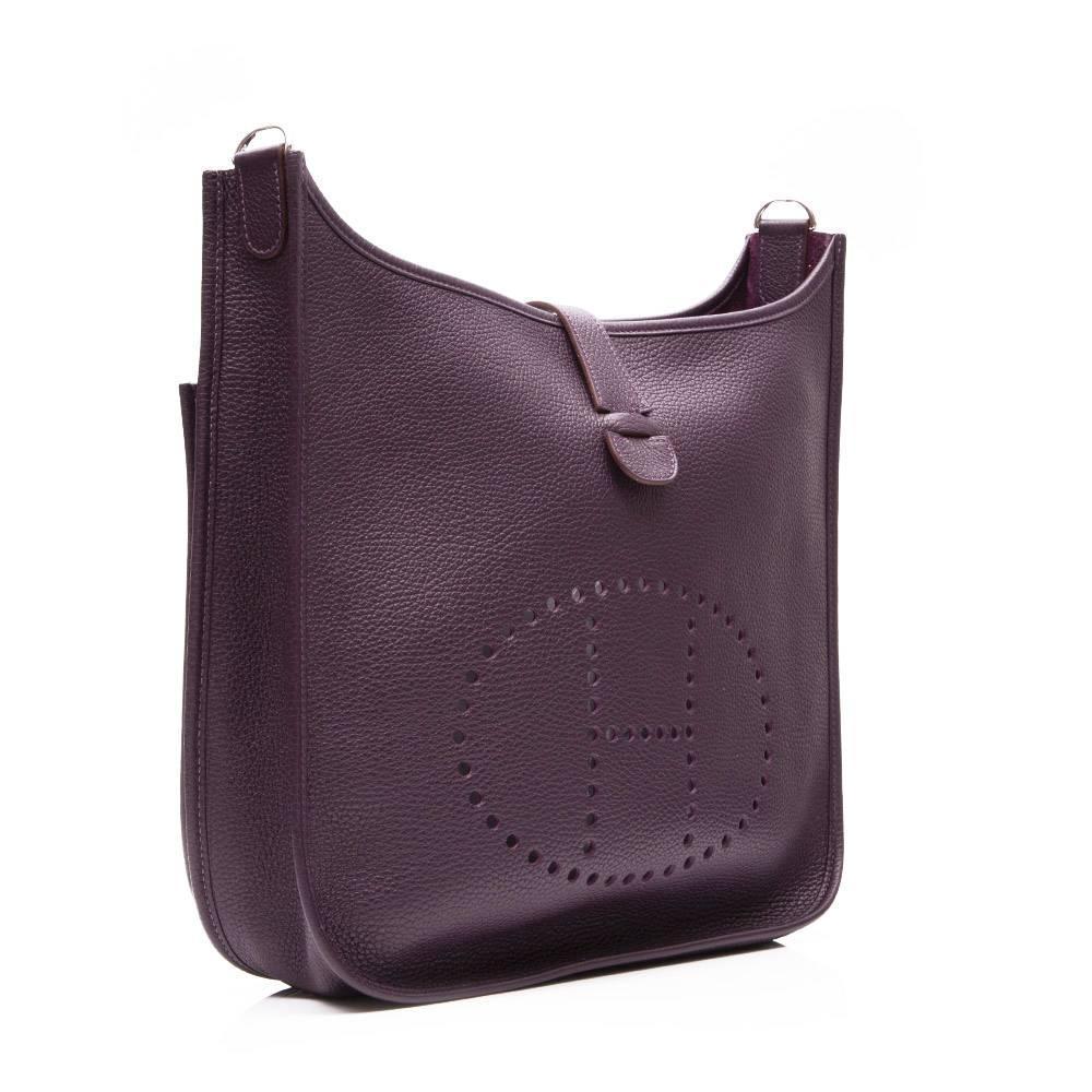 how much is a birkin purse - Hermes Raisin Leather Evelyne Shoulder Bag For Sale at 1stdibs