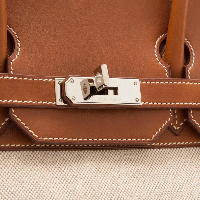 Hermes HAC Toile 35cm Birkin For Sale 4