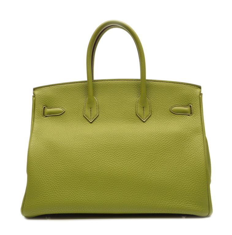 Brown Hermes Green Birkin For Sale