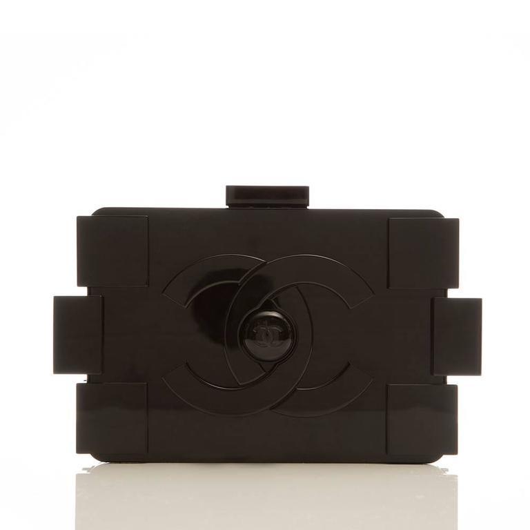 Black Chanel Runway Op-art Lego Boy Bag For Sale