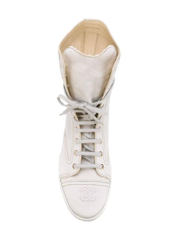 Chanel Lace-up Ankle Boots at 1stdibs