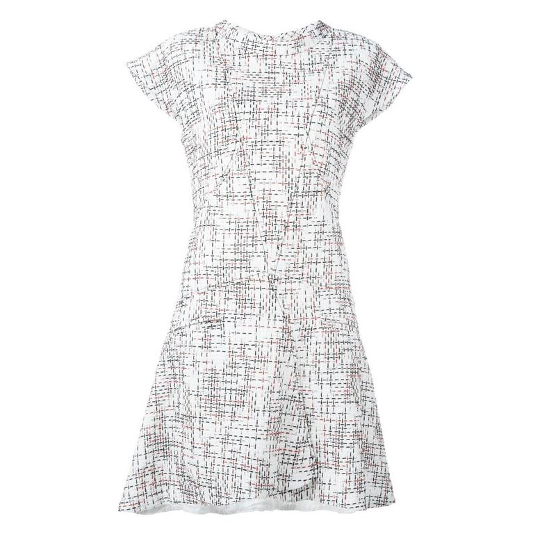 Chanel Cap Sleeve Tweed Dress For Sale