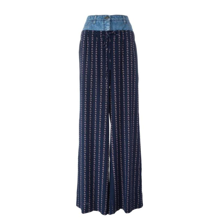 Chanel Denim Waistband Palazzo Pants 1