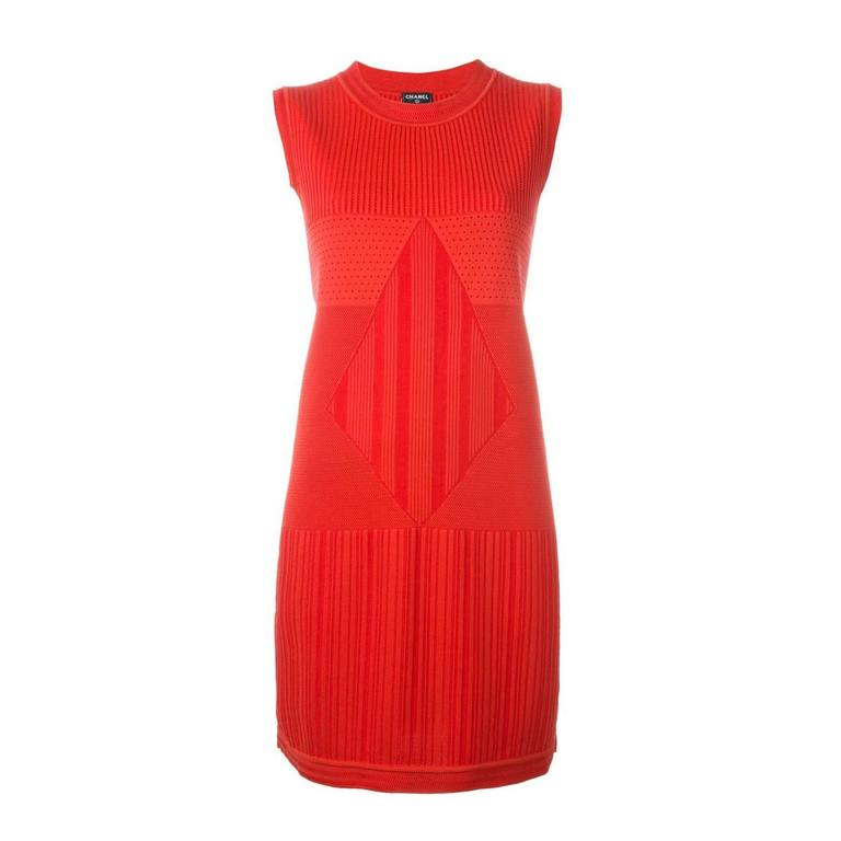 Chanel Sleeveless Knit Dress For Sale
