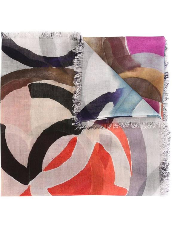 chanel geometric print scarf for sale at 1stdibs