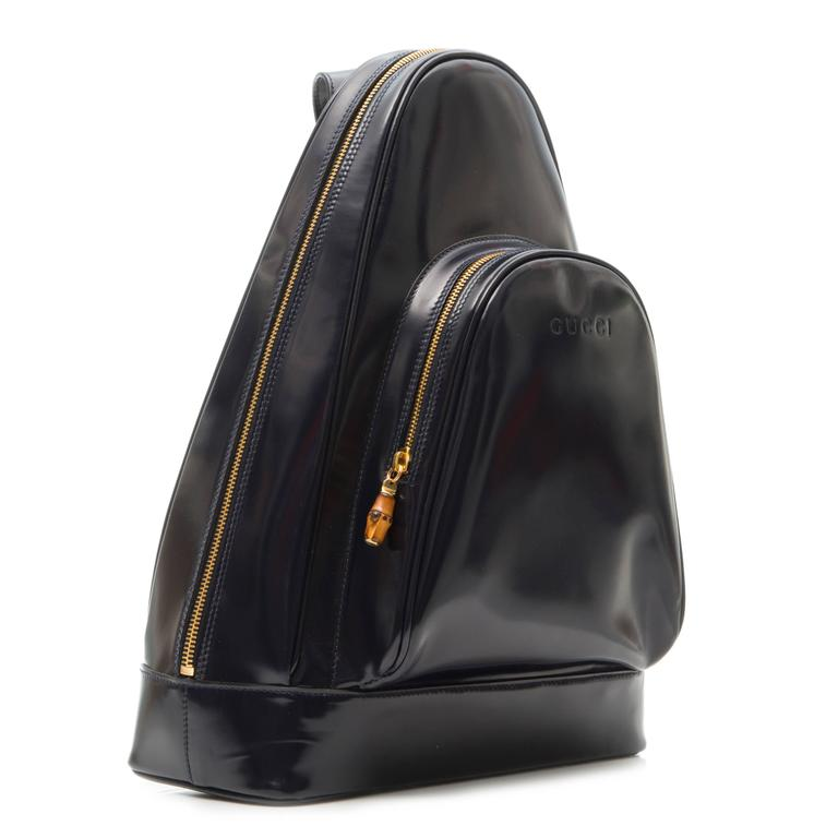 Gucci Black Leather Backpack  2
