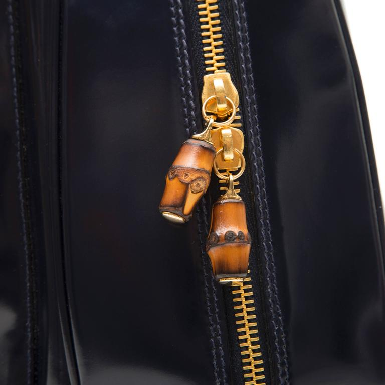 Gucci Black Leather Backpack  8