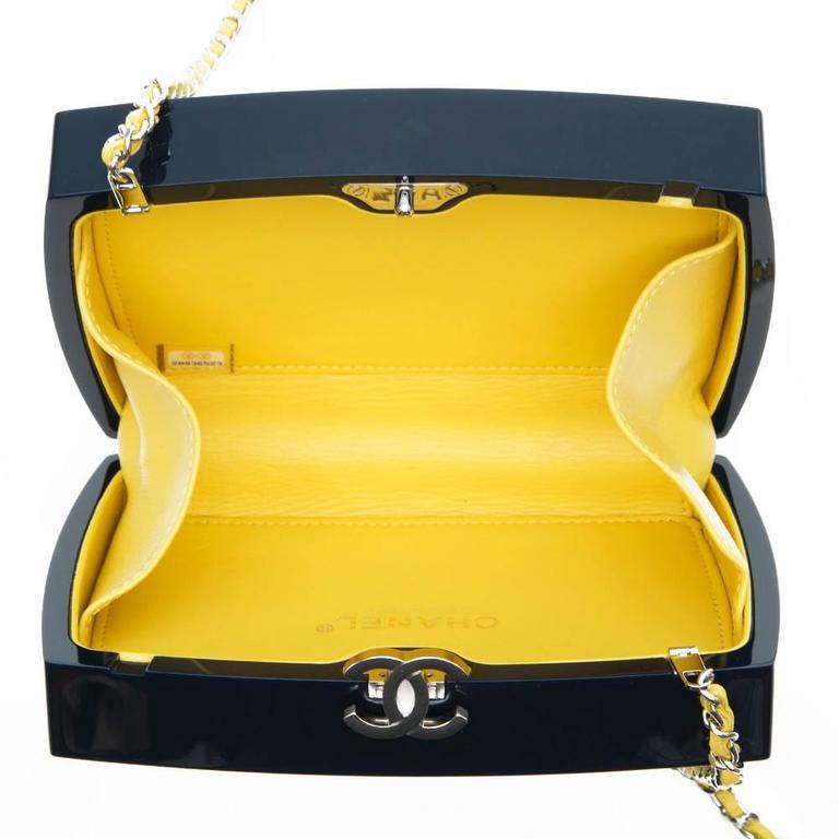 Chanel Navy Plexiglass Equation Bag 5