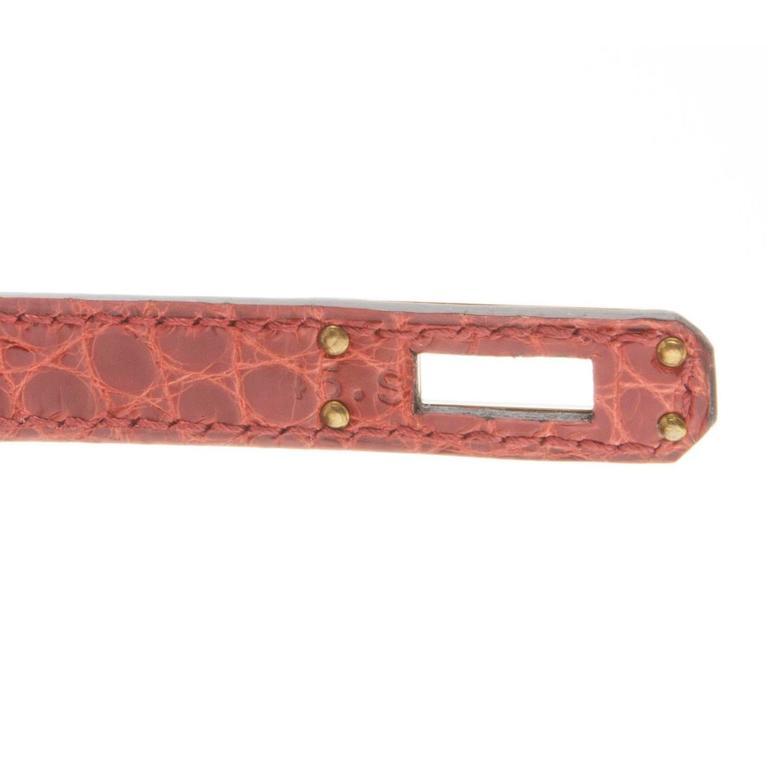 Hermes Brown Alligator Kelly Pochette Bag BRAND NEW 2
