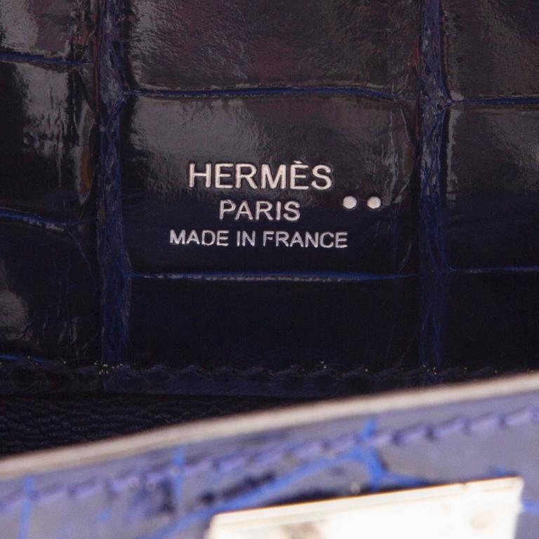 Hermes Electric Blue Kelly Cut Pochette Clutch BRAND NEW For Sale 2