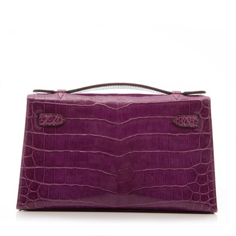 Hermes Niloticus Crocodile Kelly Pochette Bag 2