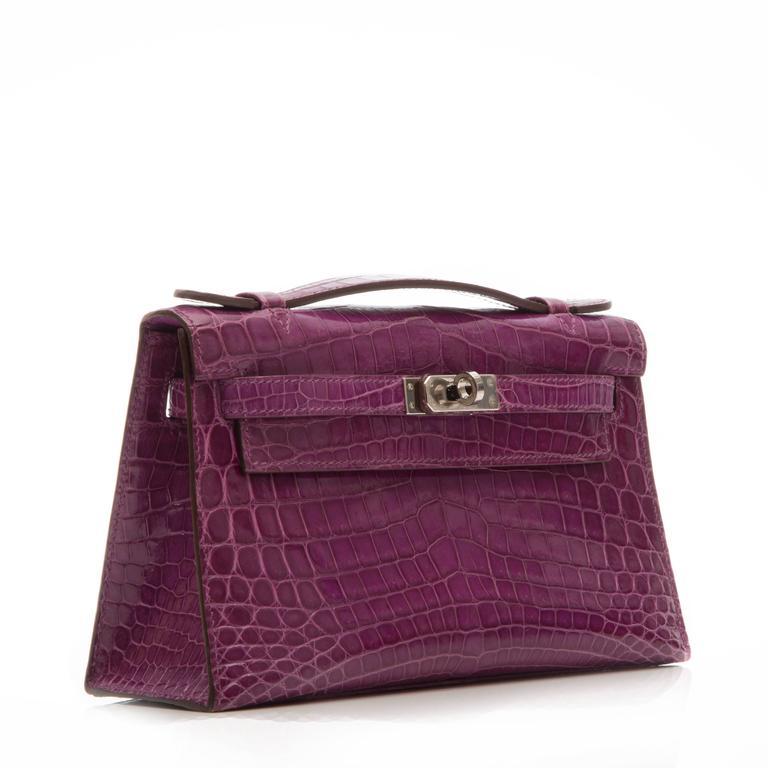 Hermes Niloticus Crocodile Kelly Pochette Bag 4