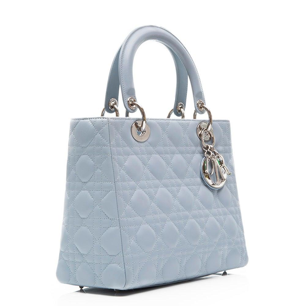 8fd8e50ef1 Dior baby Blue Lady Dior Handbag at 1stdibs