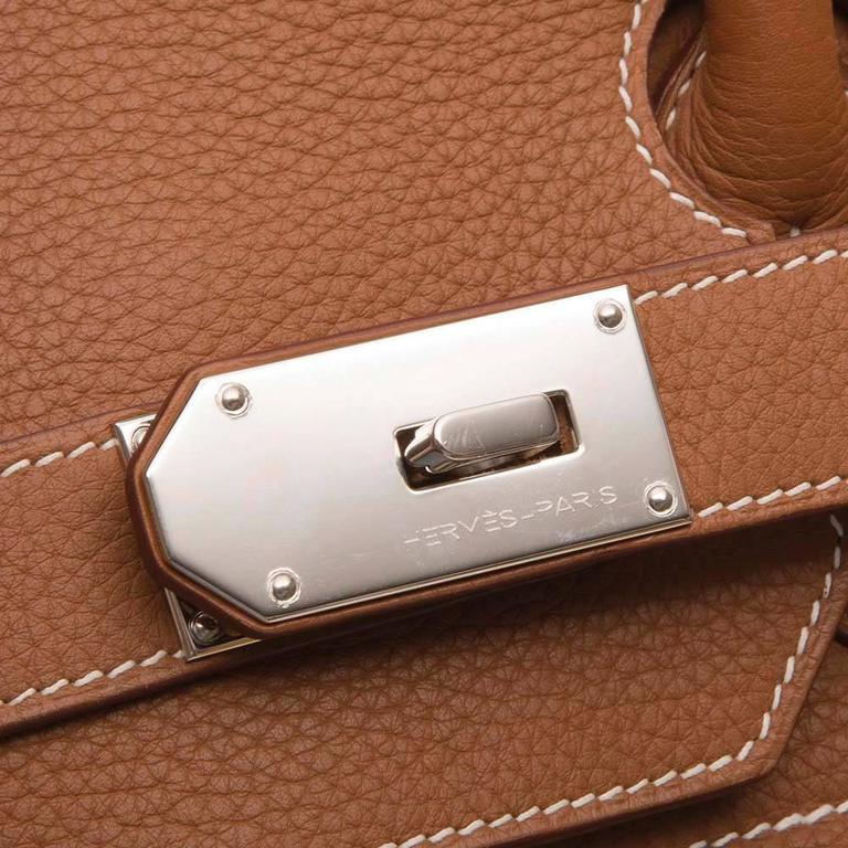 1d2564225c11 Women s Hermes Gold Brown Togo Leather HAC Birkin 50cm Handbag For Sale