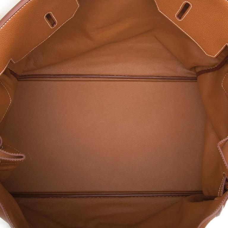 15b57e74cdba Hermes Gold Brown Togo Leather HAC Birkin 50cm Handbag at 1stdibs