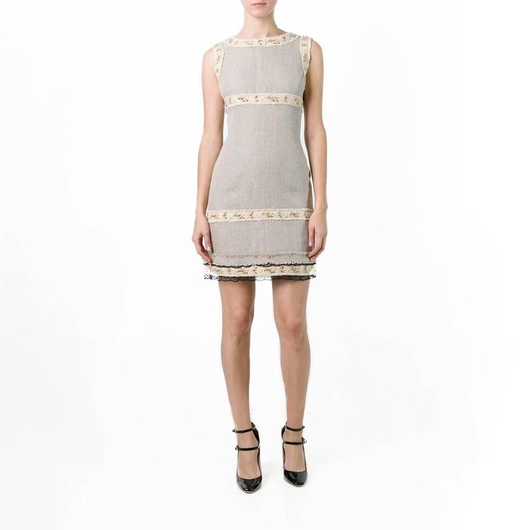 Chanel Beige Dress In Excellent Condition For Sale In London, GB