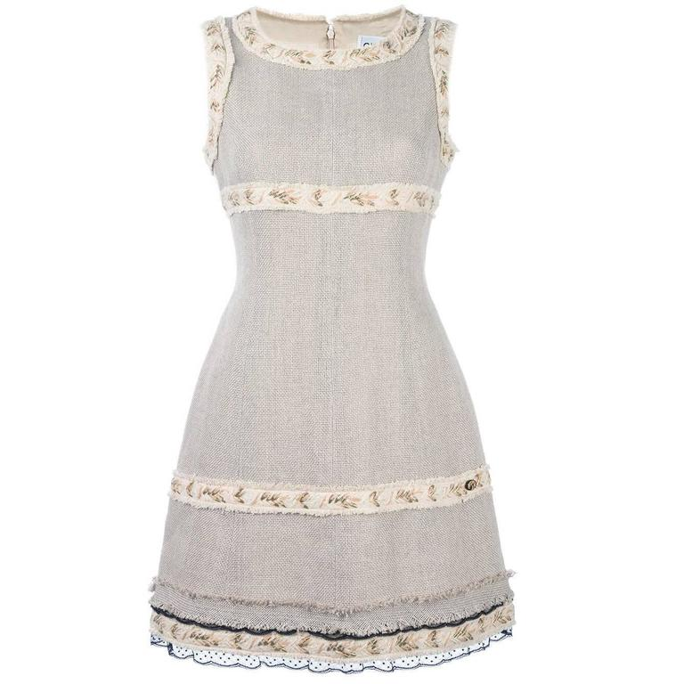 Chanel Beige Dress For Sale