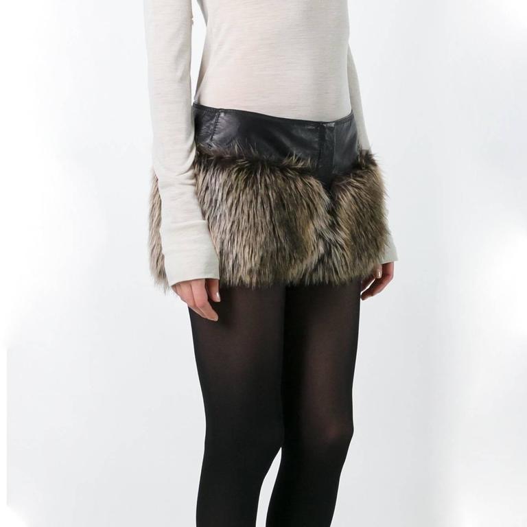 Chanel Faux Fur Short 3