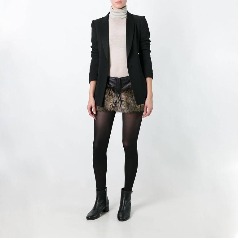 Chanel Faux Fur Short 2