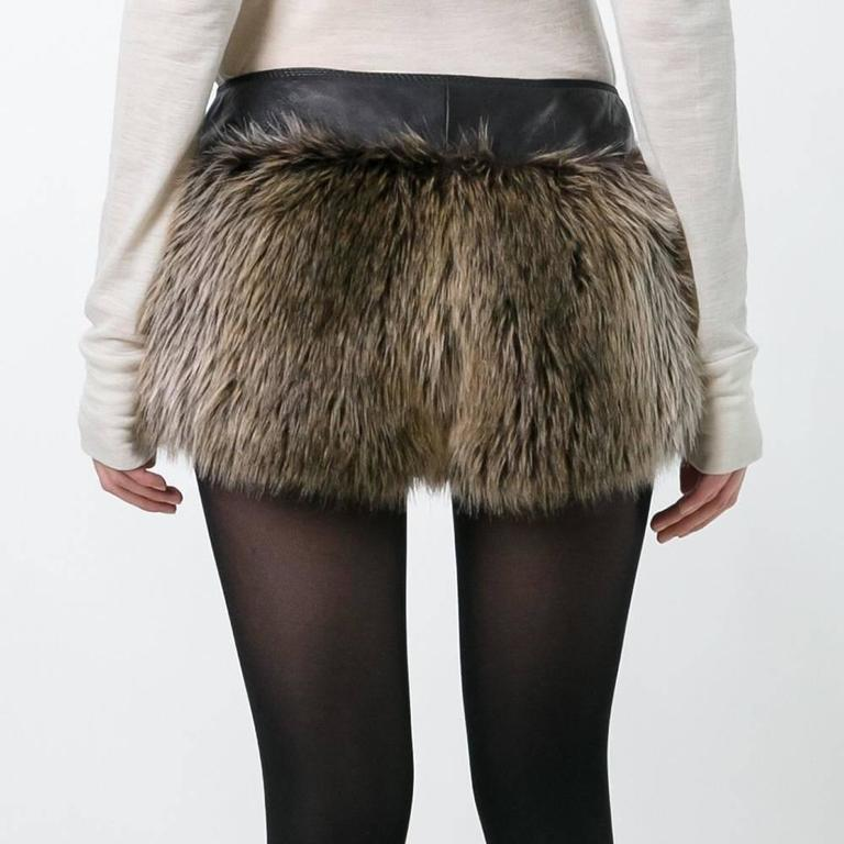 Chanel Faux Fur Short In Excellent Condition For Sale In London, GB