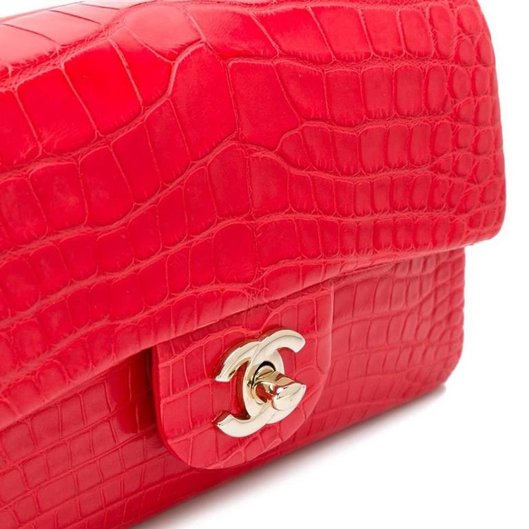 044f0f8ed832 Chanel Red Crocodile 2.55 Classic Flap Handbag In New Condition For Sale In  London, GB