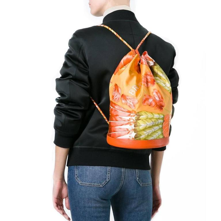 Orange Hermès Tropical Backpack For Sale