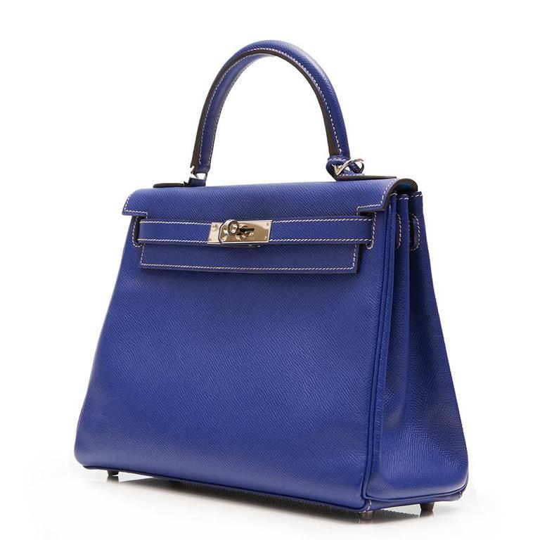 Kelly Blue Iris 25 cm Handbag 2