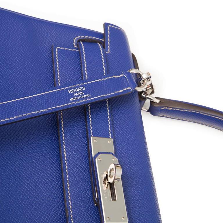 Kelly Blue Iris 25 cm Handbag 4