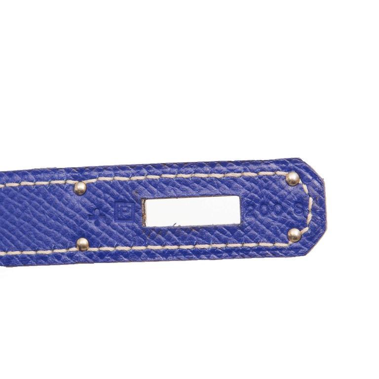 Kelly Blue Iris 25 cm Handbag 5