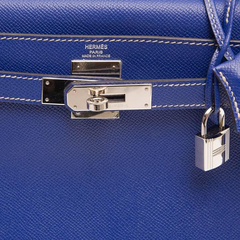 Kelly Blue Iris 25 cm Handbag 6