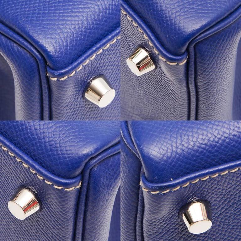 Kelly Blue Iris 25 cm Handbag 7