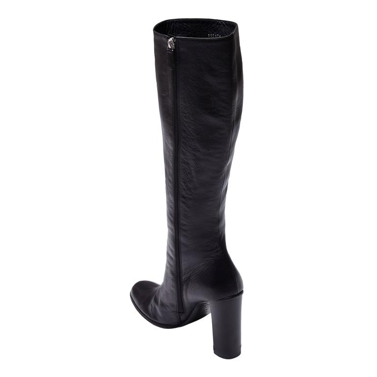 Gucci by Tom Ford Black Leather Boots In Excellent Condition For Sale In London, GB