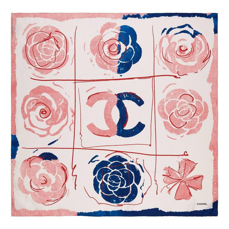 Chanel Silk Scarf For Sale