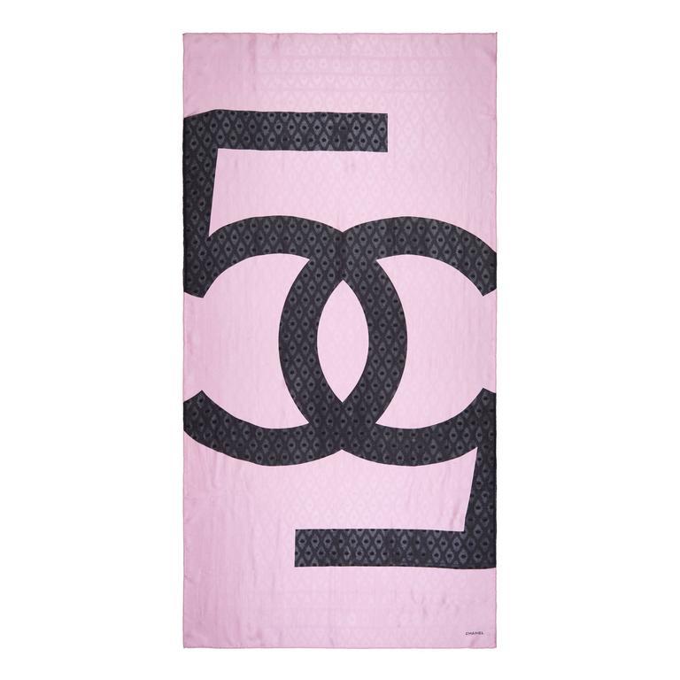 Chanel Bubblegum Pink Silk Scarf 1