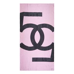 Chanel Bubblegum Pink Silk Scarf