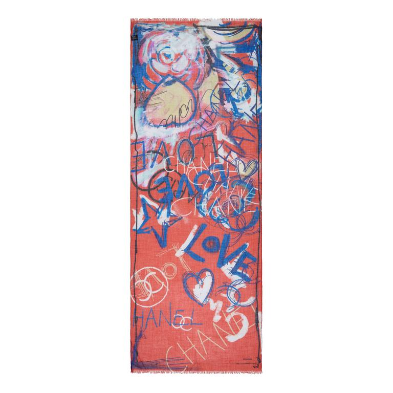 chanel silk scarf for sale at 1stdibs