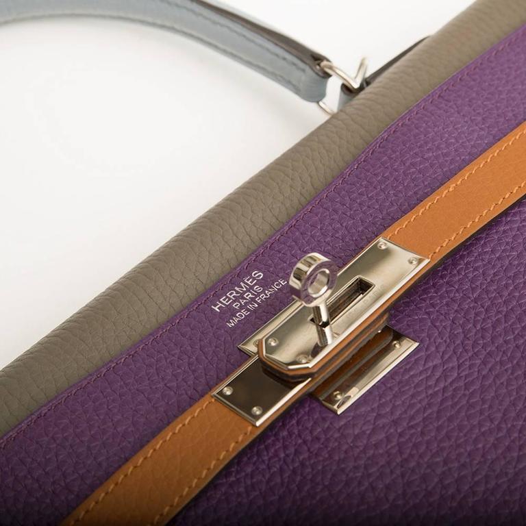 Hermes Limited Edition Harlequin Kelly 35 cm  5