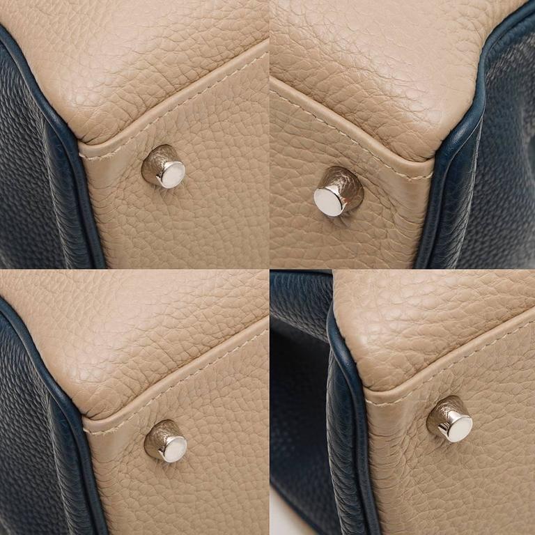 Hermes Bi-tone Kelly 40cm Handbag SPECIAL ORDER For Sale 1