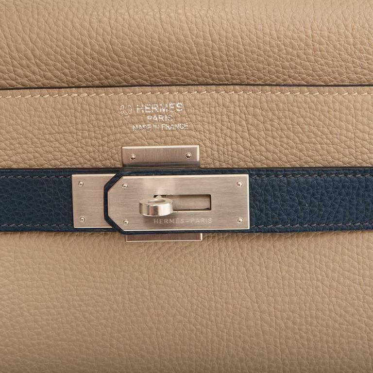 Women's or Men's Hermes Bi-tone Kelly 40cm Handbag SPECIAL ORDER For Sale