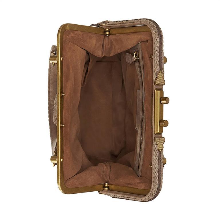 Bottega Veneta Brown Intrecciato Leather Clutch Bag For Sale 1