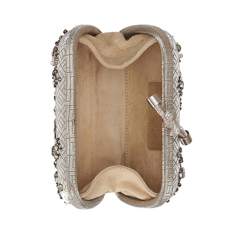 Bottega Veneta Crystal Embellished Knot Clutch Bag 5