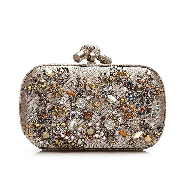 Bottega Veneta Crystal Embellished Knot Clutch Bag 3
