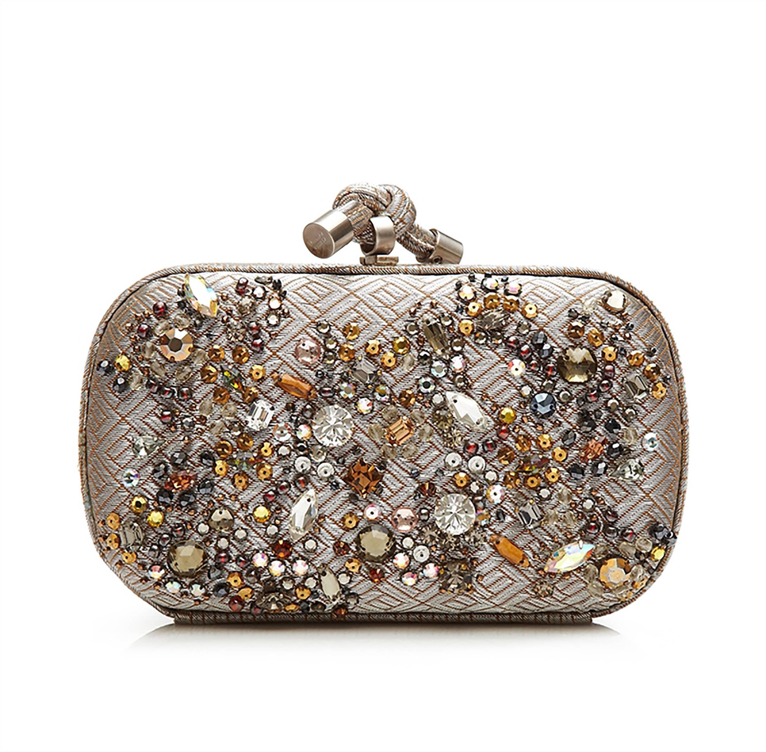 Bottega Veneta Crystal Embellished Knot Clutch Bag at 1stdibs 7054de46bc0b0
