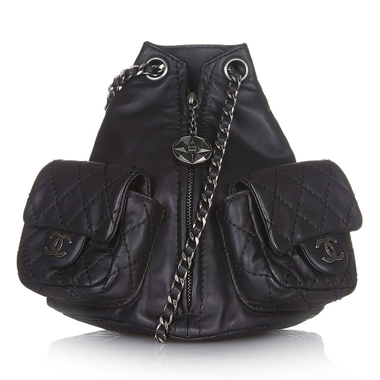 b8cbe2bcb91a Chanel Mini Leather Backpack For Sale at 1stdibs