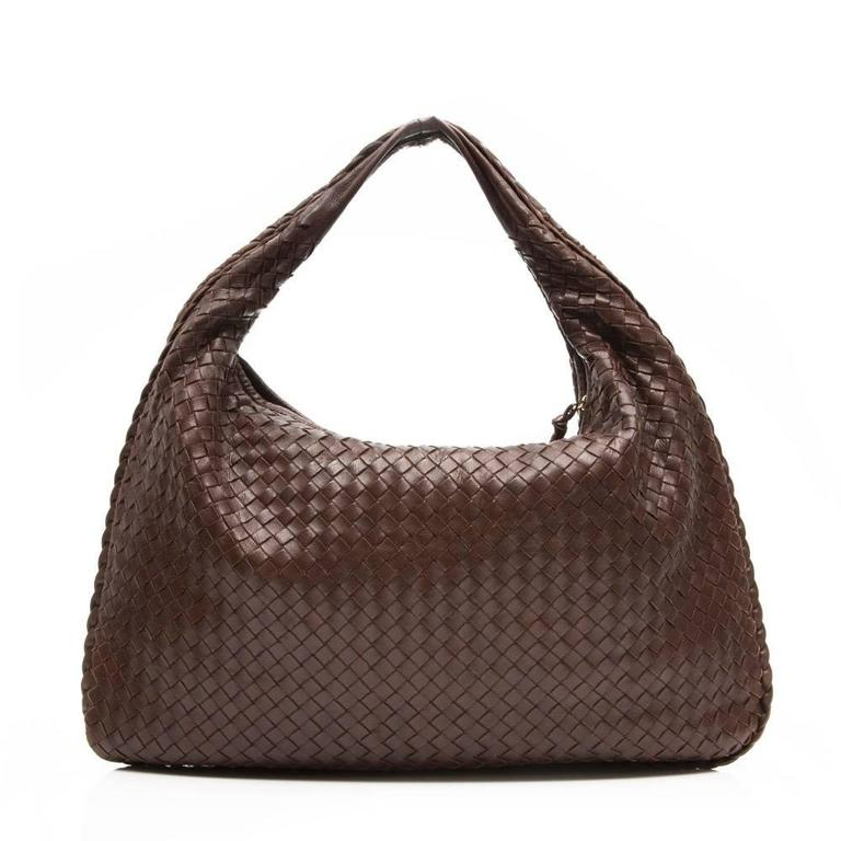 Bottega Veneta Medium Brown Intrecciato Leather Handbag 2