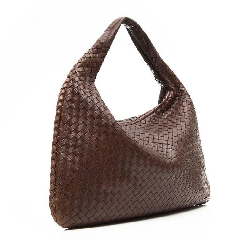 Bottega Veneta Medium Brown Intrecciato Leather Handbag 3