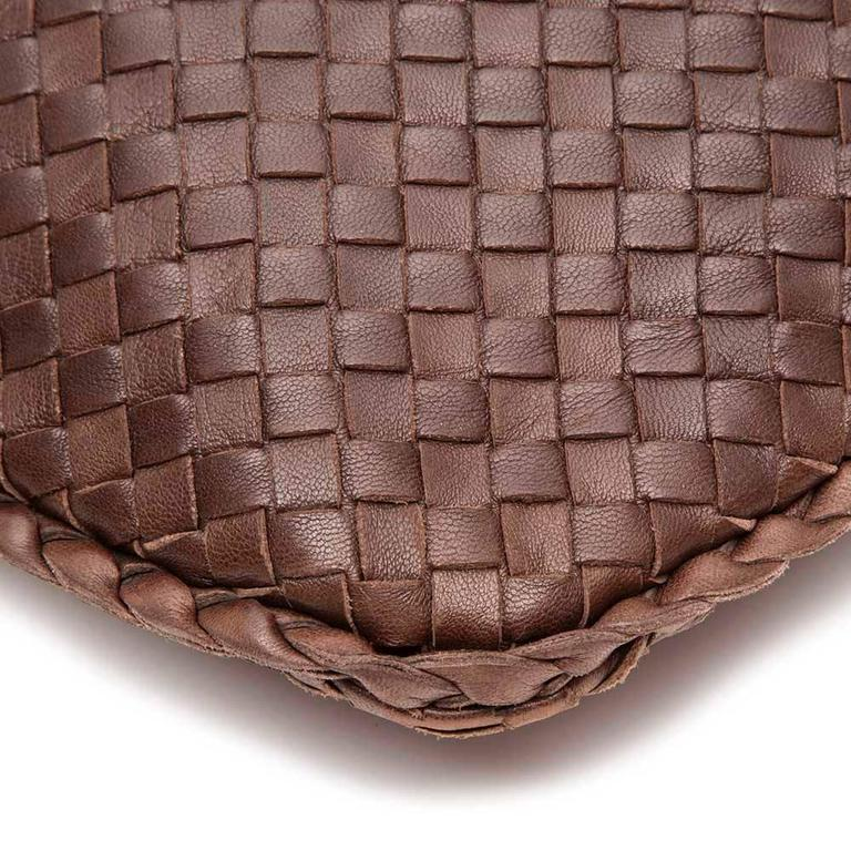 Bottega Veneta Medium Brown Intrecciato Leather Handbag 8