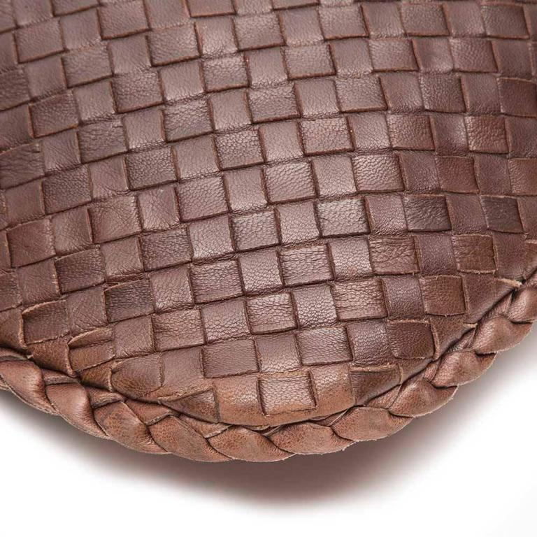 Bottega Veneta Medium Brown Intrecciato Leather Handbag 9
