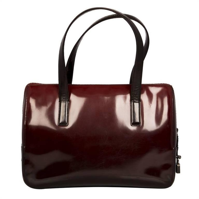 Prada Burgundy Red Leather Bag