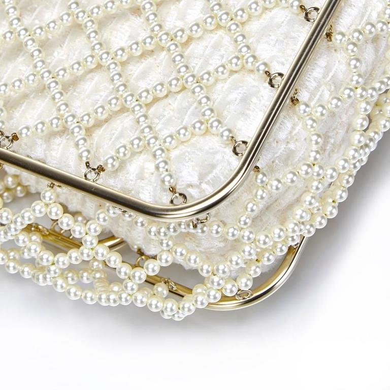 Women's Chanel Pearl Classic Flap Bag For Sale